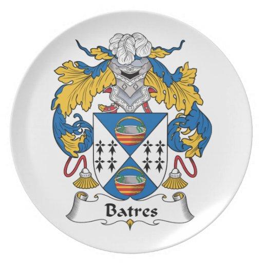 Escudo de la familia de Batres Platos De Comidas