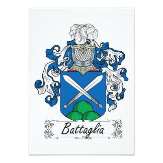 """Escudo de la familia de Battaglia Invitación 5"""" X 7"""""""