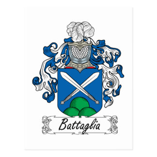 Escudo de la familia de Battaglia Postales