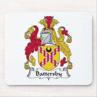 Escudo de la familia de Battersby Alfombrillas De Ratón