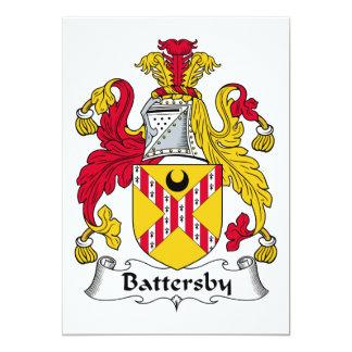 """Escudo de la familia de Battersby Invitación 5"""" X 7"""""""