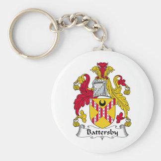 Escudo de la familia de Battersby Llavero Redondo Tipo Pin