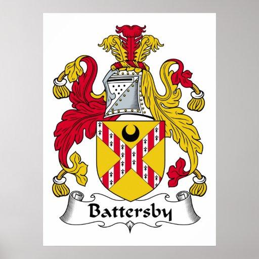Escudo de la familia de Battersby Poster