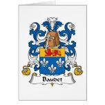 Escudo de la familia de Baudet Felicitación