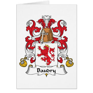 Escudo de la familia de Baudry Tarjeta De Felicitación