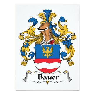 """Escudo de la familia de Bauer Invitación 6.5"""" X 8.75"""""""