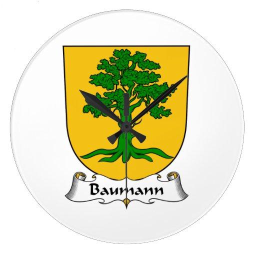 Escudo de la familia de Baumann Reloj Redondo Grande