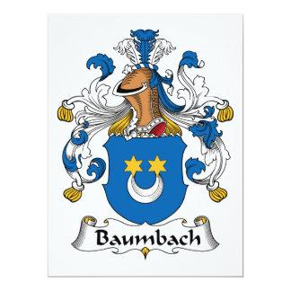 """Escudo de la familia de Baumbach Invitación 6.5"""" X 8.75"""""""