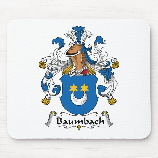 Escudo de la familia de Baumbach Tapetes De Ratón