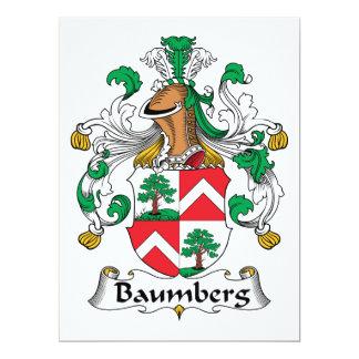 """Escudo de la familia de Baumberg Invitación 6.5"""" X 8.75"""""""