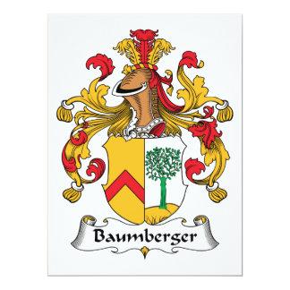 """Escudo de la familia de Baumberger Invitación 6.5"""" X 8.75"""""""