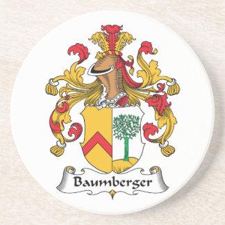 Escudo de la familia de Baumberger Posavasos Cerveza
