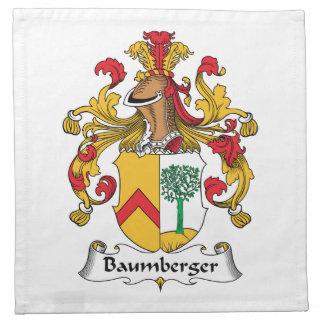 Escudo de la familia de Baumberger Servilletas De Papel