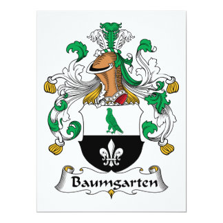 """Escudo de la familia de Baumgarten Invitación 6.5"""" X 8.75"""""""