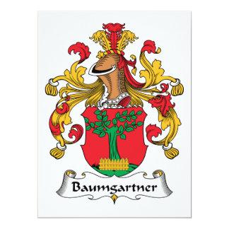 """Escudo de la familia de Baumgartner Invitación 6.5"""" X 8.75"""""""