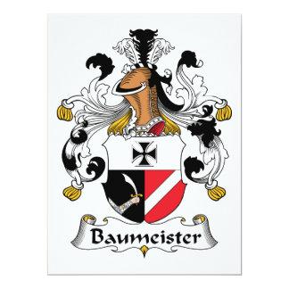 """Escudo de la familia de Baummeister Invitación 6.5"""" X 8.75"""""""