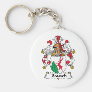 Escudo de la familia de Bausch Llavero Redondo Tipo Pin