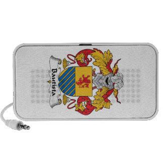Escudo de la familia de Bautista Notebook Altavoces