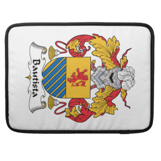 Escudo de la familia de Bautista Funda Para Macbooks