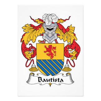 Escudo de la familia de Bautista Invitacion Personalizada