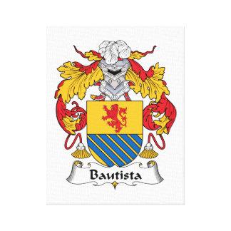 Escudo de la familia de Bautista Impresión En Lona Estirada