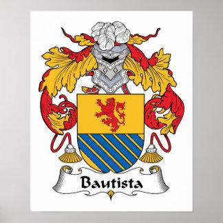 Escudo de la familia de Bautista Impresiones