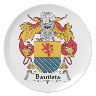 Escudo de la familia de Bautista Platos Para Fiestas