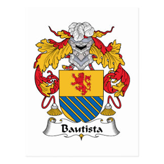 Escudo de la familia de Bautista Tarjetas Postales