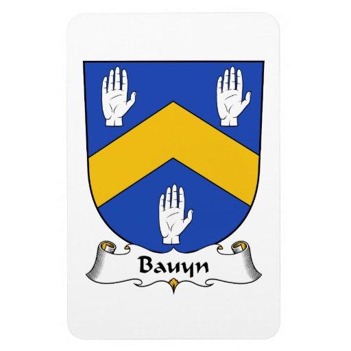 Escudo de la familia de Bauyn Imán De Vinilo