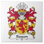 Escudo de la familia de Bauzon Tejas Ceramicas
