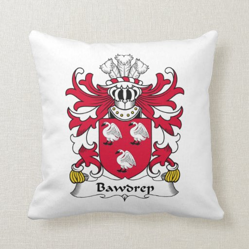 Escudo de la familia de Bawdrep Cojin