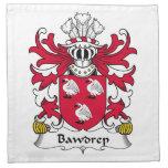 Escudo de la familia de Bawdrep Servilletas Imprimidas