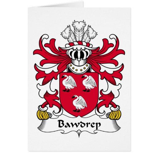 Escudo de la familia de Bawdrep Tarjetón