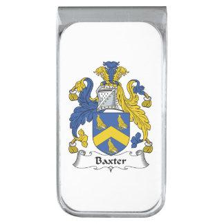 Escudo de la familia de Baxter Clip Para Billetes Plateado