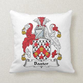 Escudo de la familia de Baxter Cojín Decorativo