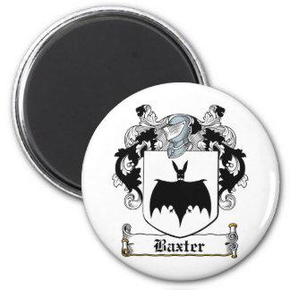Escudo de la familia de Baxter Imán Redondo 5 Cm