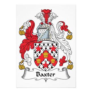 Escudo de la familia de Baxter Comunicado Personal