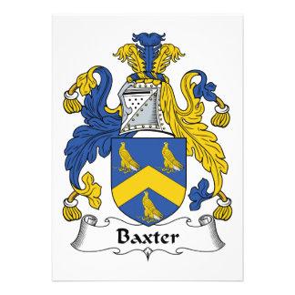 Escudo de la familia de Baxter Invitacion Personal