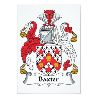 """Escudo de la familia de Baxter Invitación 5"""" X 7"""""""