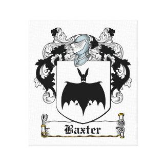 Escudo de la familia de Baxter Lona Envuelta Para Galerías
