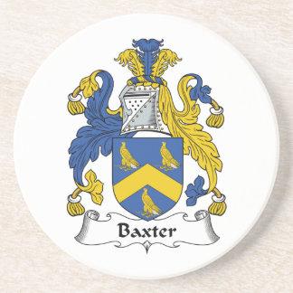 Escudo de la familia de Baxter Posavasos De Arenisca