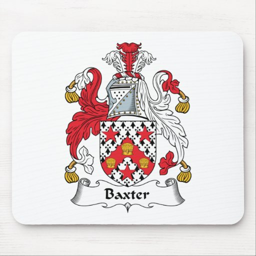 Escudo de la familia de Baxter Tapete De Ratones