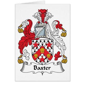 Escudo de la familia de Baxter Felicitaciones