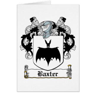 Escudo de la familia de Baxter Tarjetón