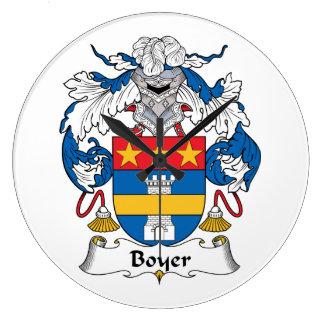 Escudo de la familia de Bayer Reloj Redondo Grande