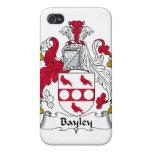 Escudo de la familia de Bayley iPhone 4 Protectores