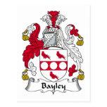 Escudo de la familia de Bayley Tarjeta Postal