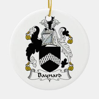 Escudo de la familia de Baynard Adorno Redondo De Cerámica