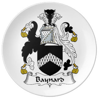 Escudo de la familia de Baynard Platos De Cerámica