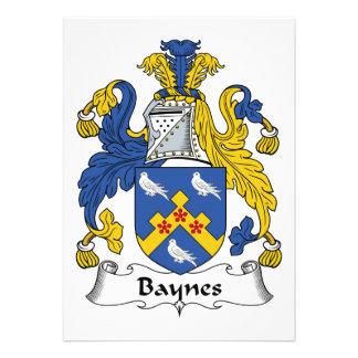 Escudo de la familia de Baynes Invitación